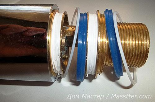 Ремонт однорычажного смесителяa 6