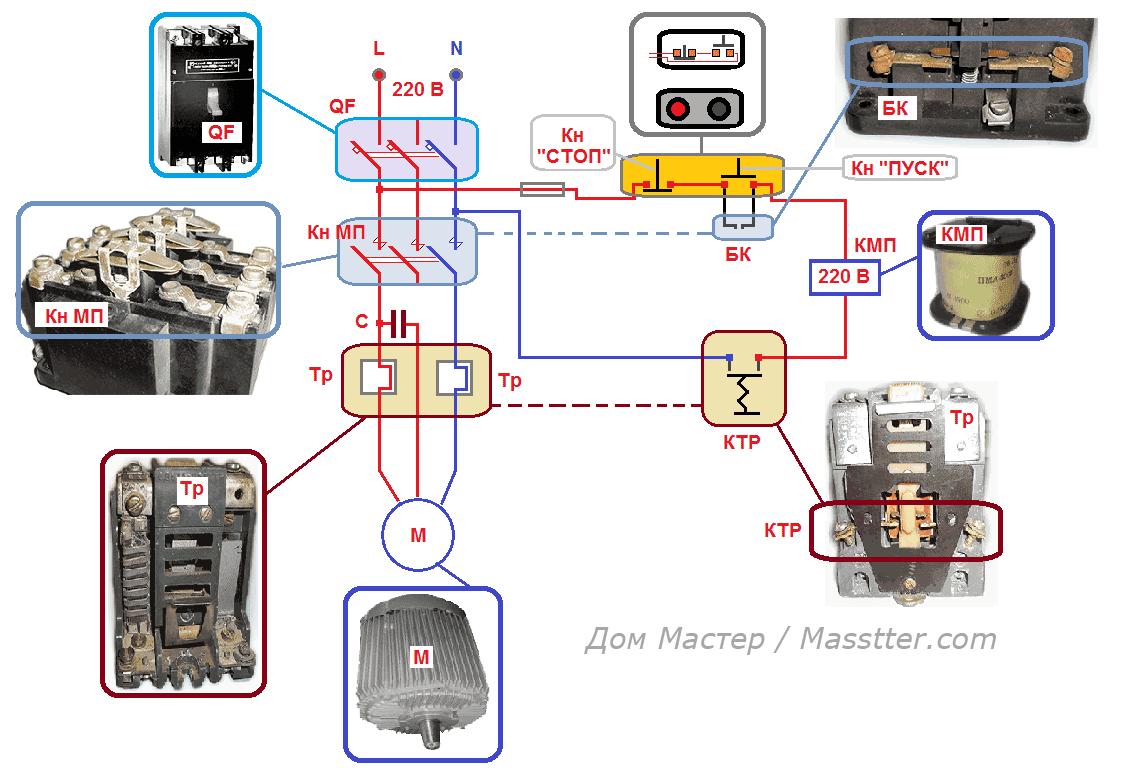 Схемы магнитопускателей