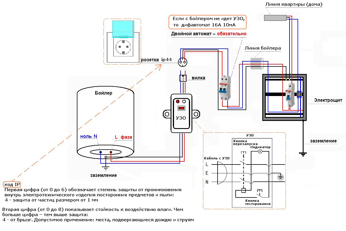 Коллекция: Электрическая схема подключения бойлера подключение бойлера к электросети видео.