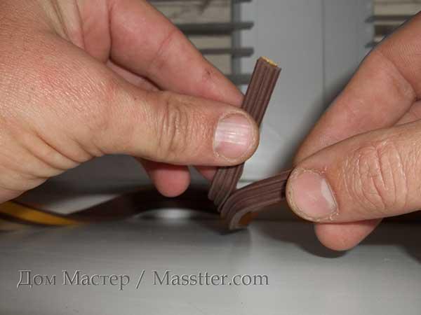 деление ленты уплотнителя для двери