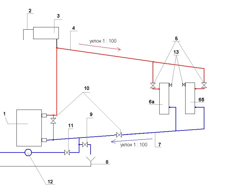 6а — Диагональное подключение