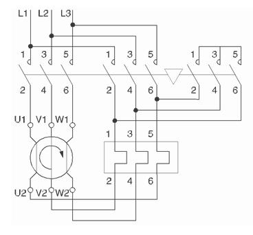 Электрическая схема «звезда — треугольник»
