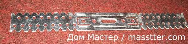 металлические пластины — подвесы