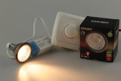 Лампа светодиодная CIVILIGHT MR16