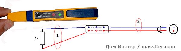 Отвертка индикатор фазы (6)