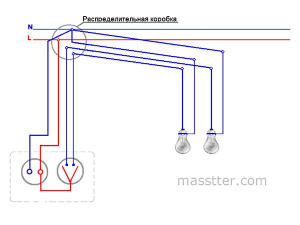 podkljuchenie rozetki s dvuhklavishnym vykljuchatelem (1)